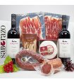 Regalo Gourmet con Ibéricos de Cebo, Queso y Vino Ribera del Duero Servilio